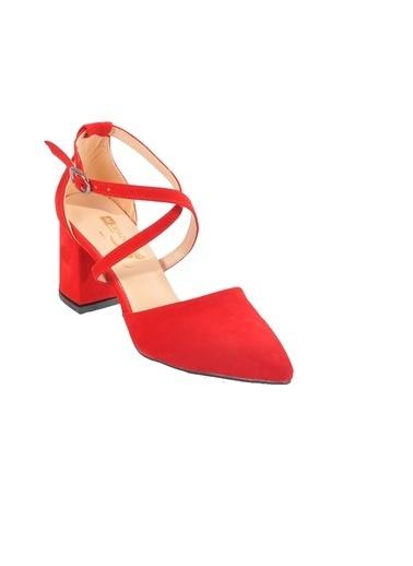 Maje 1901 Platin Kadın Topuklu Ayakkabı Kırmızı